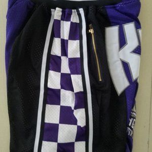 NEW Just Don Sacramento Kings basketball Shorts